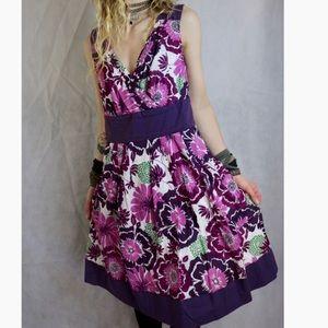 rabbit rabbit rabbit Purple Floral Formal Dress !